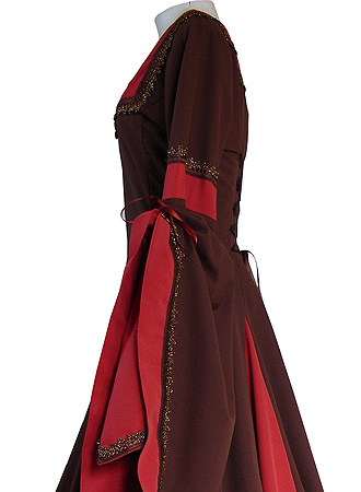 medieval gothic carnival robe dress costume guinevere. Black Bedroom Furniture Sets. Home Design Ideas